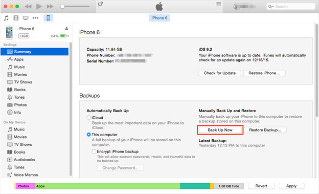 How to Sync iPhone to computer using iTunes