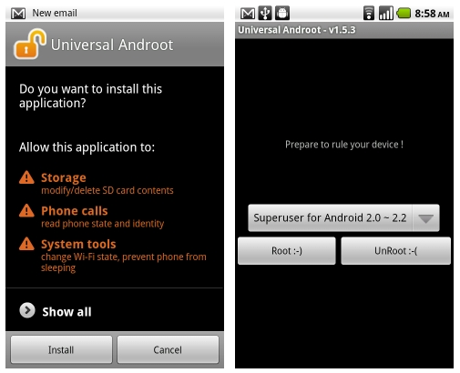 Best apps to root Samsung Note 8-Universal Androot