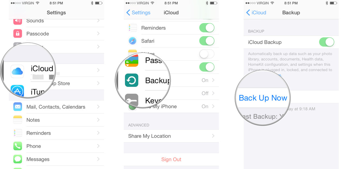 How to How to transfer data from iPhone to iPhone with iCloud