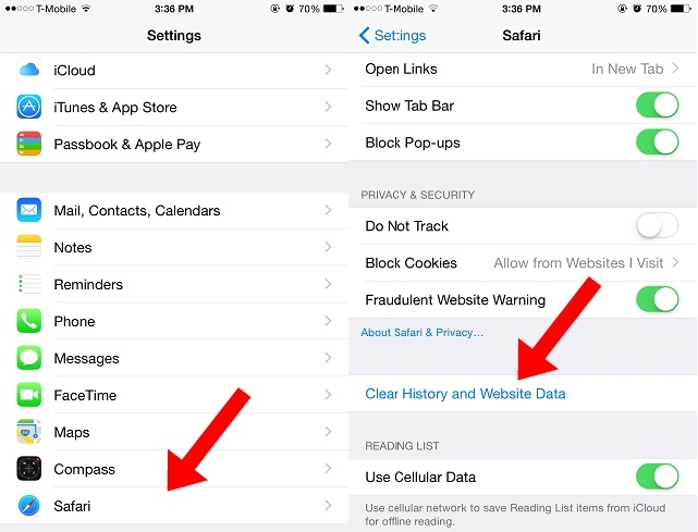Clear cache data on Safari to keep your iPhone malware-free