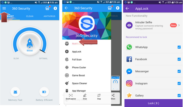 How to lock Android apps with 360 Security Antivirus