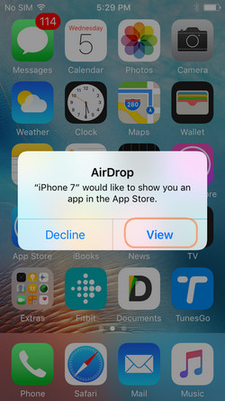 Share Apps via App Store from iPhone to iPhone using AirDrop
