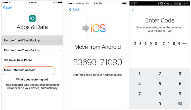 how to use move to ios to transfer android photos to iphone
