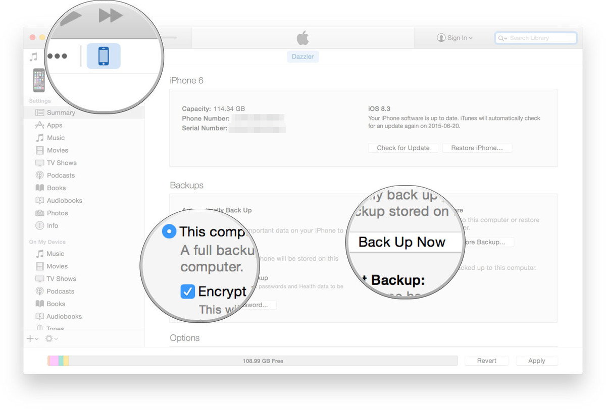 transfer data from iphone to iphone using itunes