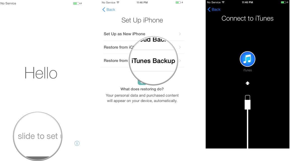 Steps to Transfer data from iPhone to iPhone