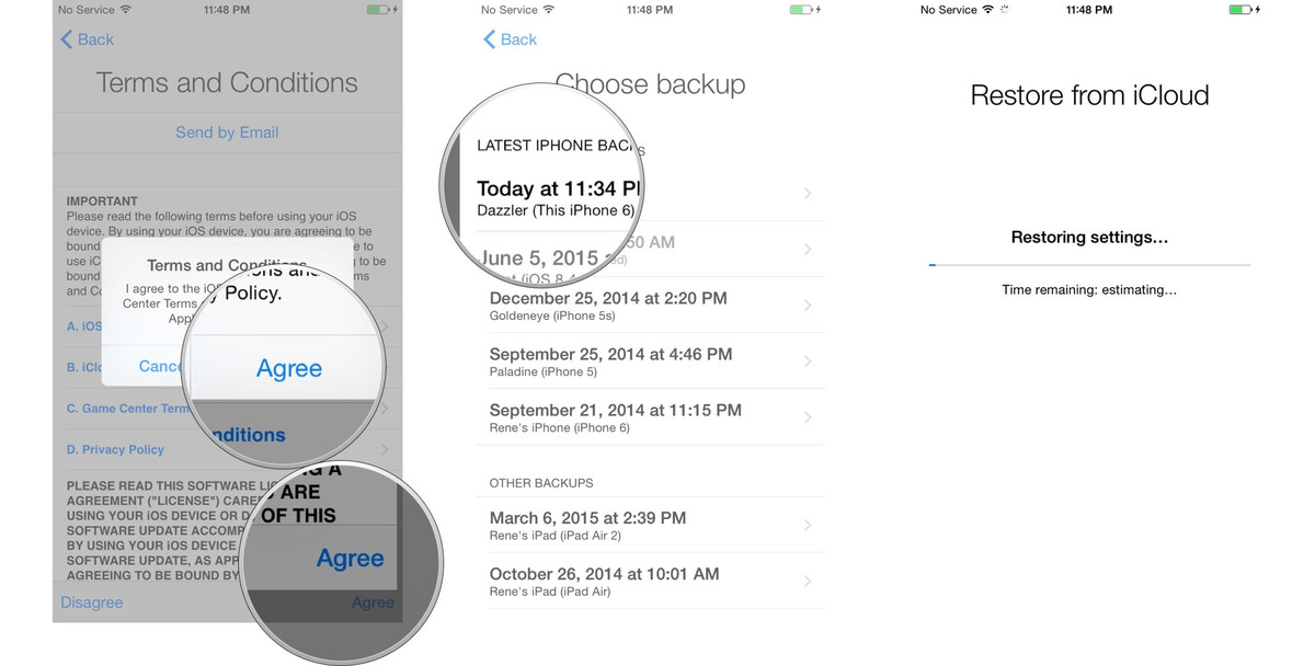 transfer data from iPhone to iPhone with iCloud