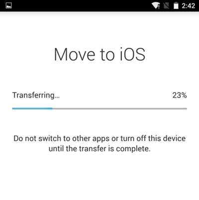 Use Move to iOS to transfer pictures from Note 8 to iPhone-6