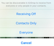 pictures transfer from iphone to iphone via AirDrop