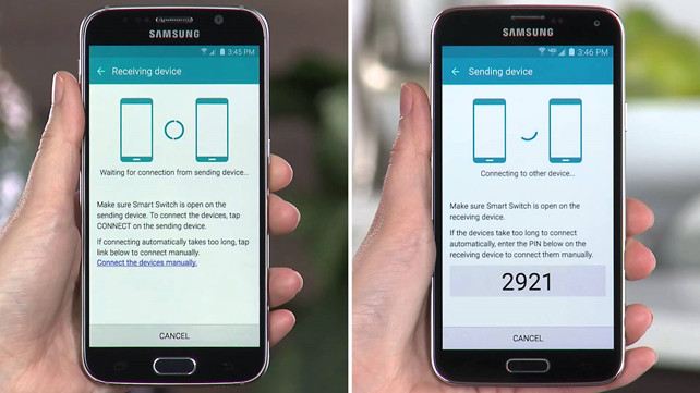 transfer photos from Samsung to Samsung via Smart Switch