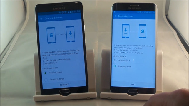 transfer data from one Samsung to another with Samsung switch mobile transfer