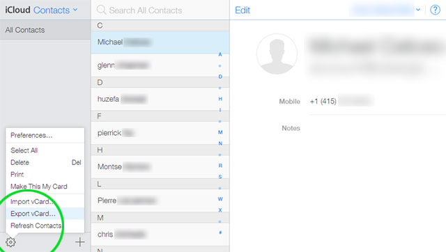 Transfer contacts from iPhone to Android Note 8 through iCloud-2