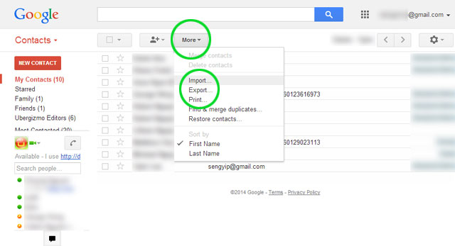 Transfer contacts from iPhone to Android Note 8 with Gmail-2
