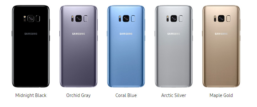 samsung galaxy s8  plus colors