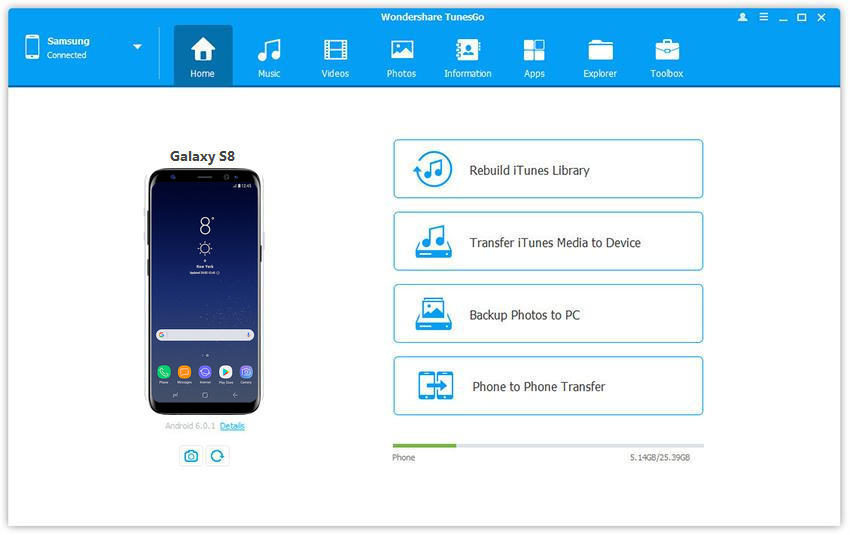 transfer files from pc to samsung galaxy s8 specs