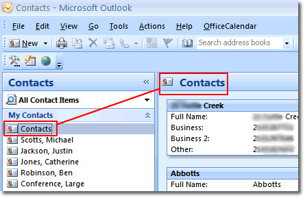 transfer outlook contacts to LG