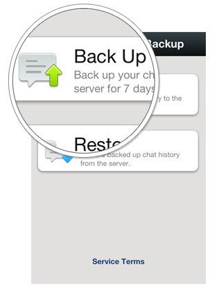 Transfer WeChat History to LG-backup-history-option