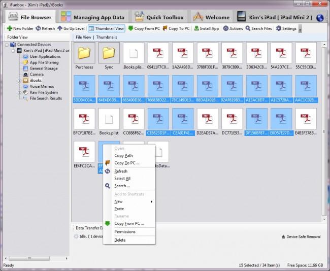 como transferir pdf do ipad para pc usando ifunbox