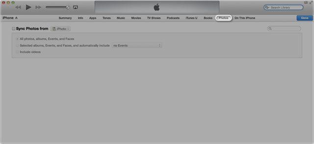 use o itunes para transferir fotos imagens do mac para o ipad