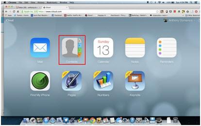 transferir para iphone contatos para o gmail usando icloud