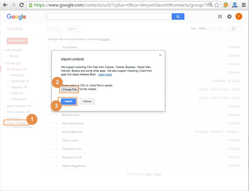 contactos para iphone sync para gmail diretamente