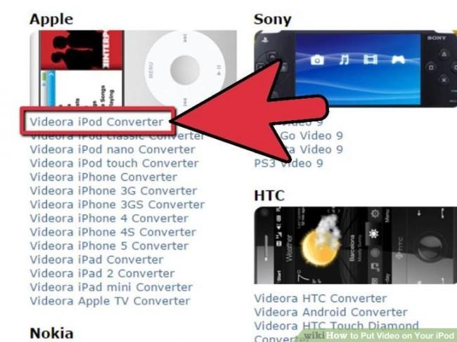 dicas para adicionar videos para o ipod nano