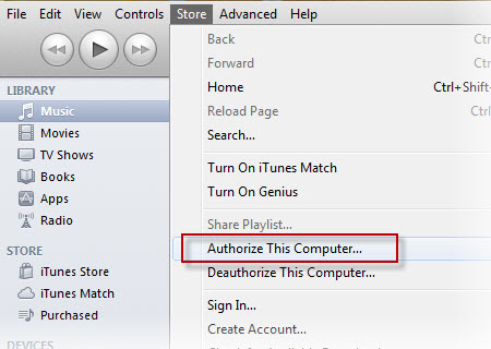 re autorizar o itunes e de computadores