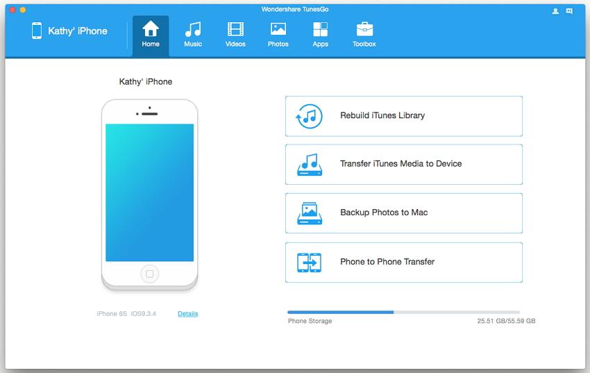 transfer iphone video to mac tunesgo
