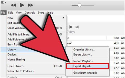 export itunes playlist com arquivos de musica via itunes