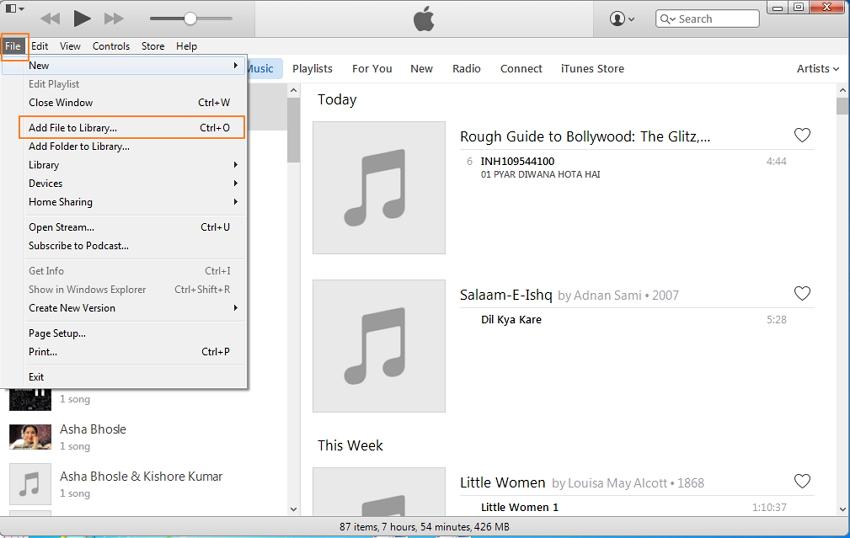 transferir musica do ipod ao itunes manualmente