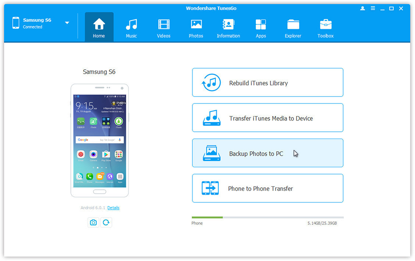 Android-Fotos auf dem PC sichern