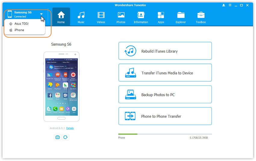 Verbinden Sie Ihr Android-Smartphone um Fotos auf andere Geräte zu übertragen