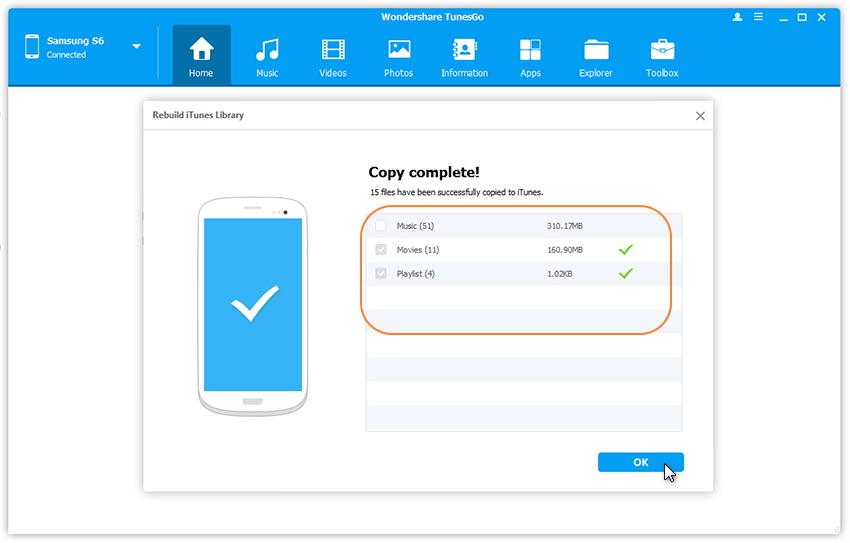 Android-Medien zu iTunes übertragen