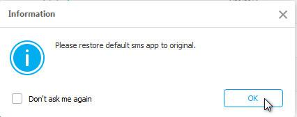 Android-Nachrichten-App wieder zurücksetzen