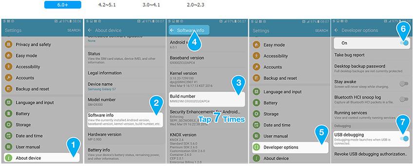 Aktivieren von USB-Debugging unter Android 6.0