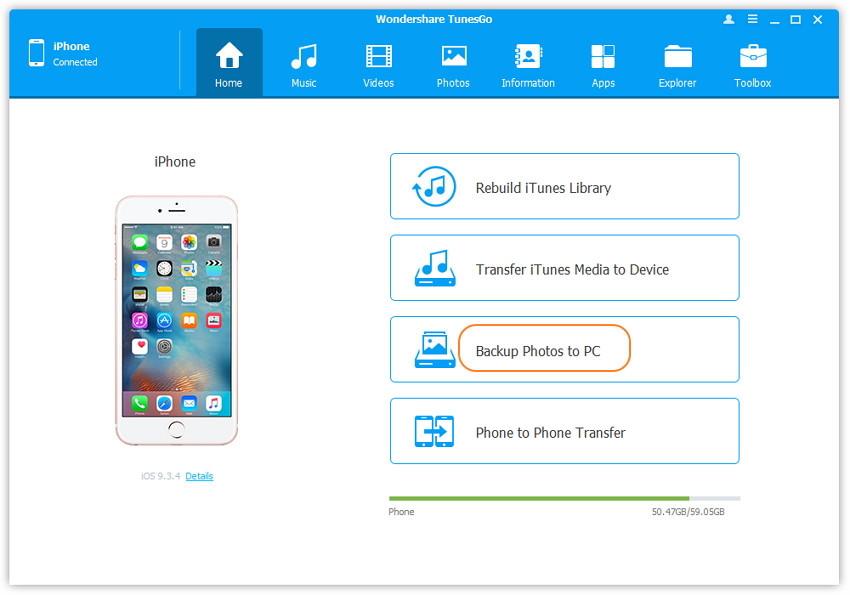 1-Klick Backup Ihrer Fotos auf dem PC/Mac - Suchen und Auswahl des Zielordners für die Fotos unter Windows