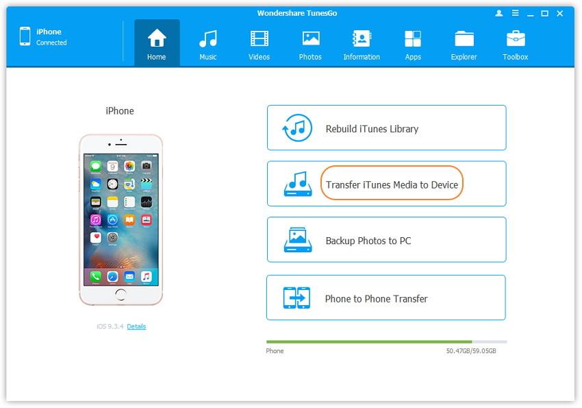 1-Klick Übertragung von iTunes-Medien auf ein Gerät - schließen Sie Ihr Apple-Gerät an