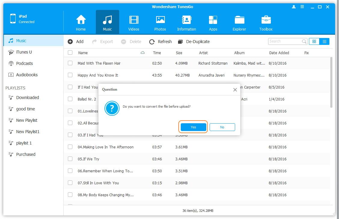 Konvertieren Sie Musik/Videos in iOS-unterstützte Formate - Fügen Sie Ihrem Apple-Gerät Musik hinzu