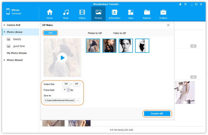 Verwalten Sie Fotoalben in der Fotobibliothek - verbinden Sie Geräte mit dem Computer