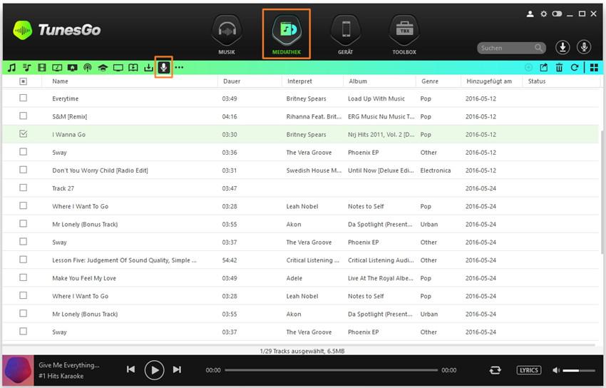 Wondershare TunesGo Anleitung - Musik von Spotify ...