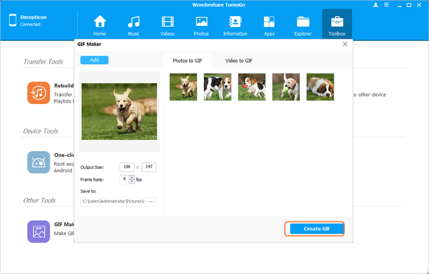 Images to GIF - Convert Images to GIF
