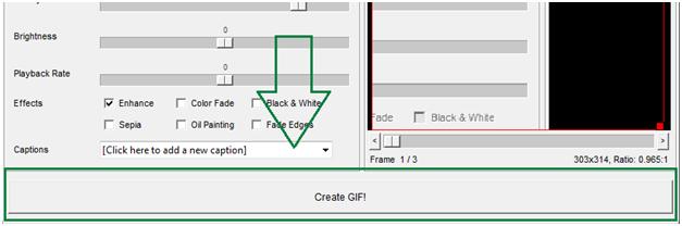 Click Create GIF Button