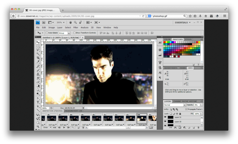 how to make gifs in photoshop from video