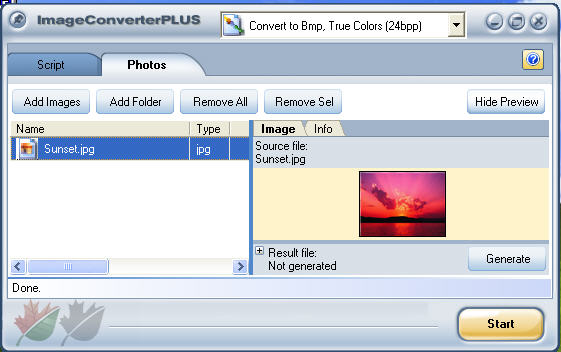 GIF to JPG - Start Image Converter Plus