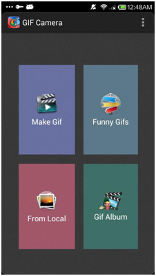 Best GIF Makers for iOS and Android - Main Interface of GIF Camera