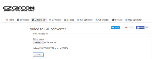 Top Online and Offline GIF Makers - Visit Homepage of EZ GIF
