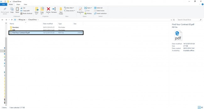 Transfer PDF Files from PC to iPad Using iCloud - Drap and drop PDF file into the folder