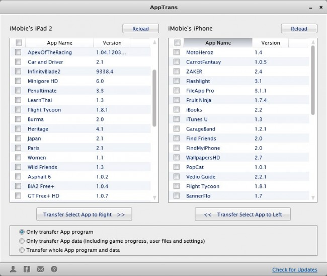 Transfer Apps From iPhone to iPad With Third Party Apps -AppTrans
