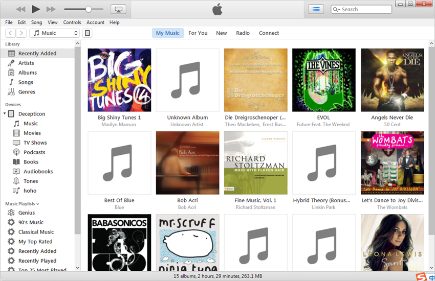 Transfer Music from iPhone to iPad with iTunes - Check iTunes Music Library