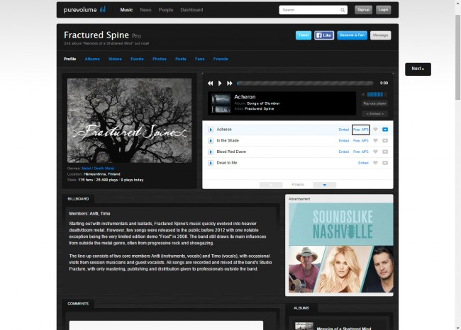 Download Music from Purevolume to PC - Download Music
