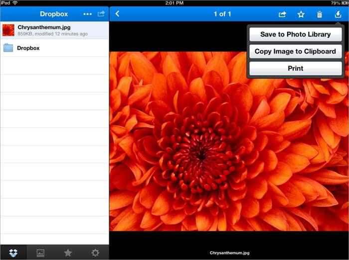 transfer photos from pc to ipad using Dropbox